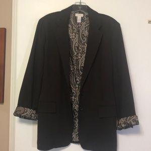 Chico's pointe knit blazer in dark brown